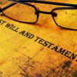 Stock Photo: Last will and testament