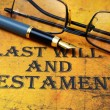 Last will and testament — Stock Photo #30546667