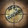 Stock Photo: Opportunity target
