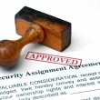 Stock Photo: Security assignment agreement