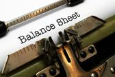 Balance sheet — Stock Photo