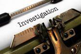 Investigation — Stock Photo
