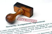 Security assignment agreement — Stock Photo