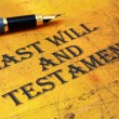 Last will and testament — Stock Photo