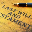 Last will and testament — Stock Photo #30681287