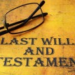 Last will and testament — Stock Photo #30681737