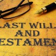 Last will and testament — Stock Photo #30681807