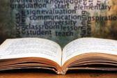 Learn concept - book — Foto de Stock