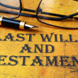 Last will and testament — Stock Photo #30863931