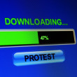 Stock Photo: Download protest