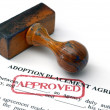 Adoption placement agreement — 图库照片
