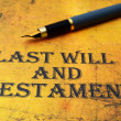 Last will and testament — Stock Photo #30865395