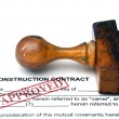 Construction contract — Stock Photo
