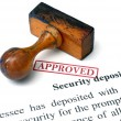 Security deposit — Stock Photo