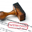 Foto de Stock  : Adoption placement agreement