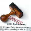 Stock Photo: Debt settlement