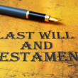 Last will and testament — Stock Photo #31054183