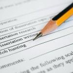 Job application form — Stock Photo