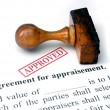 Agreement for appraisement — Stock Photo