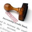 Increasing credit limit — Stock Photo