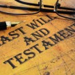 Last will and testament — Stock Photo #31184997
