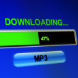 Downloading mp3 — Stock Photo