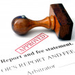 Report and fee statement — Stock Photo #31185137
