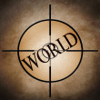 World target — Stock Photo