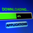 Downloading applications — Foto Stock