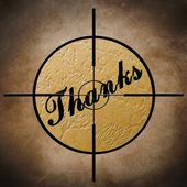 Thank you target — Stock Photo