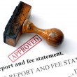 Report and fee statement — Stock Photo #31581503