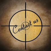 Contact us target — Stock fotografie