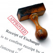 Receipt of exchange — Stock Photo