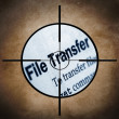 FIle transfer target — Stock Photo