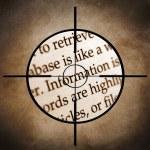 Information target — Stock Photo