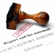 Report and fee statement — Stock Photo #31804713