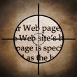 Web site target — Stock Photo