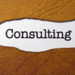 Consulting concept — Stock Photo