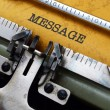 Message on typewriter — Stock Photo