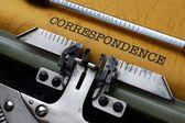 Correspondence concept — Stock Photo