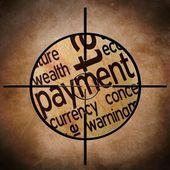 Payment target — Stock Photo