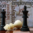 Chess and employment concept — Stock Photo