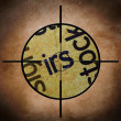 IRS target concept — Stock Photo