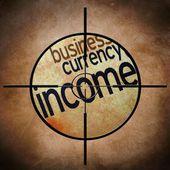 Income target concept — Zdjęcie stockowe