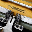 Stock Photo: Comment text on typewriter