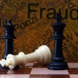 Chess and fraud concept — Stock Photo