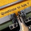 Questions to ask — Stock Photo #33240591
