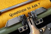 Questions to ask — Stock Photo