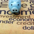 Piggy bank on investment word cloud — Stock Photo