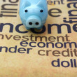 Piggy bank on investment word cloud — Stock Photo #33541969